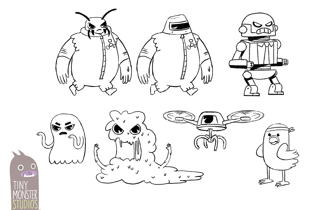 Part Dash: Enemy Concept Designs