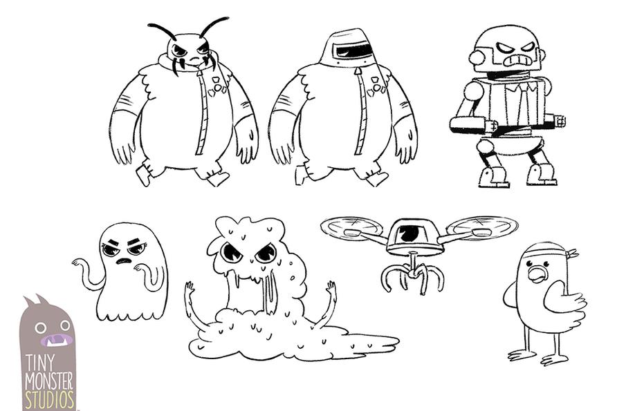 Part Dash: Enemy Concept Designs