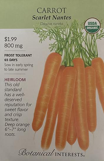 Botanical Interests - Carrot Scarlet Nantes