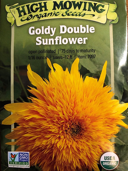 High Mowing Organic Seeds - Goldy Double Sunflower