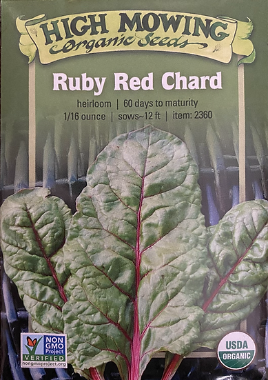 High Mowing Organic Seeds - Ruby Red Chard