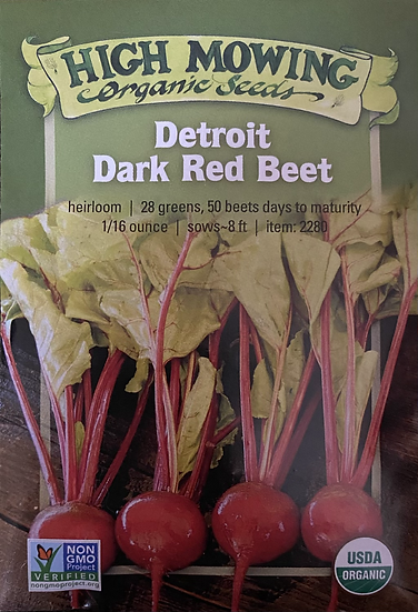 High Mowing Organic Seeds - Detroit Dark Red Beets
