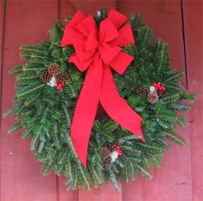 Balsam Wreath Decorated