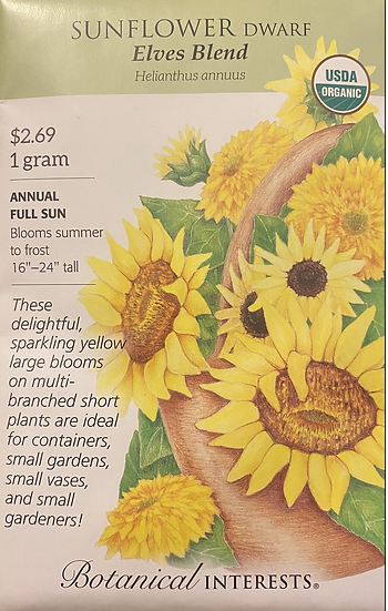 Botanical Interests - Sunflower Dwarf Elves Blend