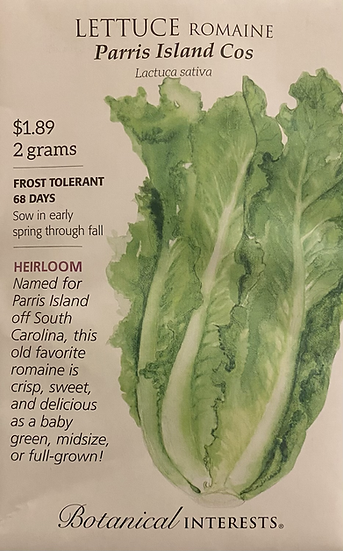 Botanical Interests - Lettuce Romaine Parris Island Cos
