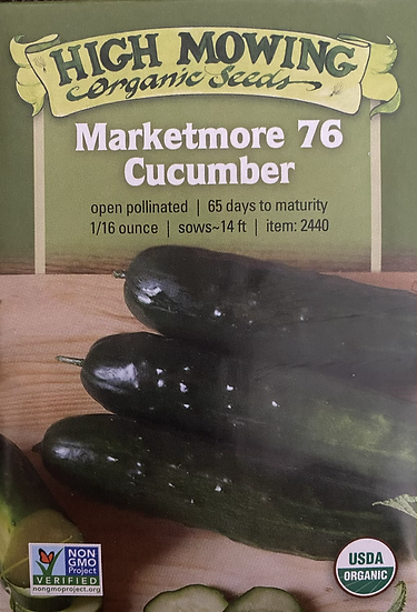 High Mowing Organic Seeds - Marketmore 76 Cucumber