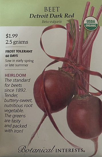 Botanical Interests - Beet Detroit Dark Red