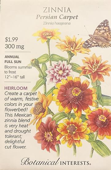 Botanical Interests - Zinnia Persian Carpet