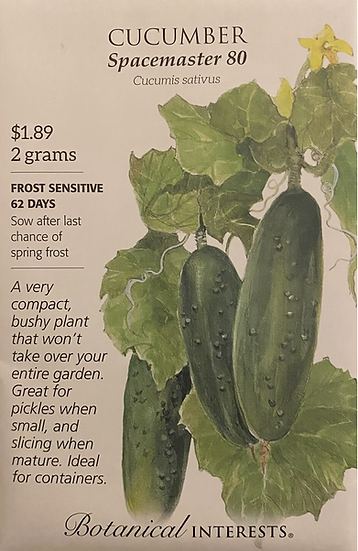 Botanical Interests - Cucumber Spacemaster 80