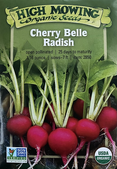 High Mowing Organic Seeds - Cherry Belle Radish