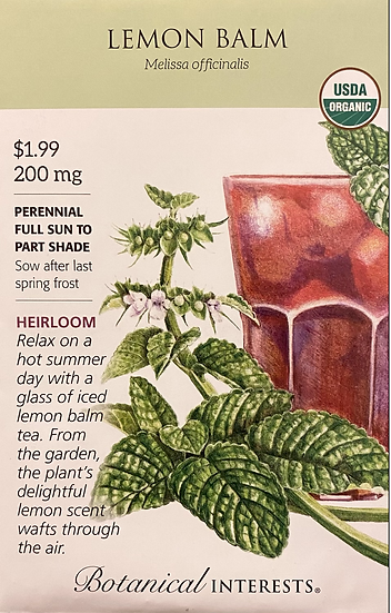 Botanical Interests - Lemon Balm