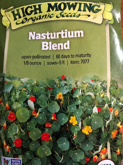 High Mowing Organic Seeds - Nasturtium Blend