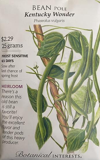 Botanical Interests - Bean Pole Kentucky Wonder