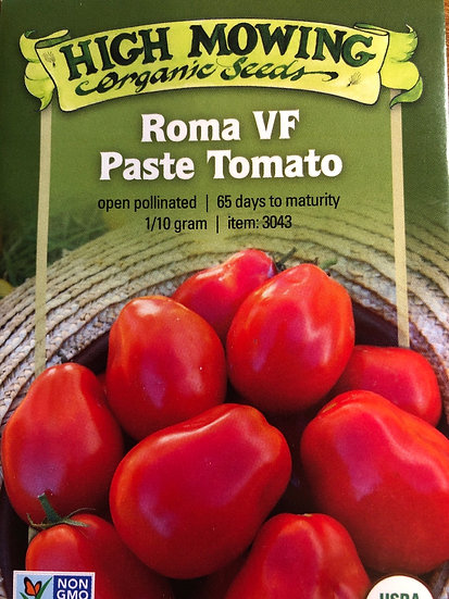 High Mowing Organic Seeds - Roma VF Paste Tomato
