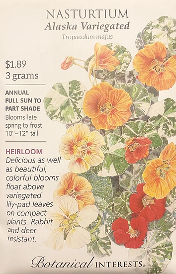 Botanical Interests - Nasturtium Alaska Variegated