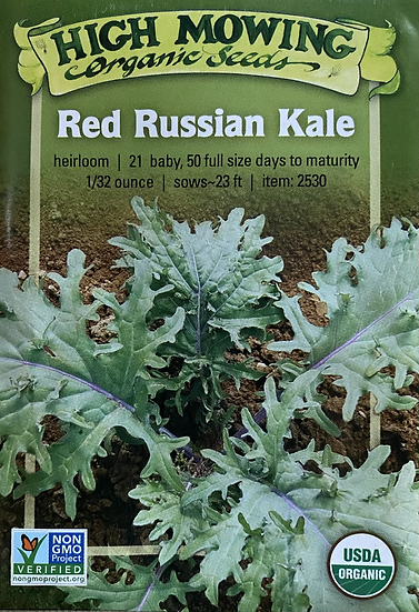 High Mowing Organic Seeds - Red Russian Kale