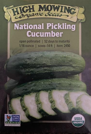 High Mowing Organic Seeds - National Pickling Cucumber