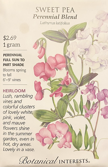 Botanical Interests - Sweet Pea Perennial Blend