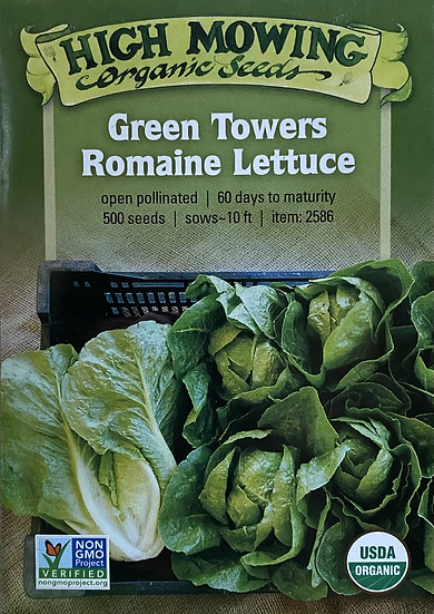 High Mowing Organic Seeds - Green Towers Romaine Lettuce