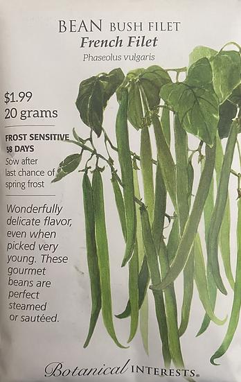 Botanical Interests - Bean Bush Filet French Filet