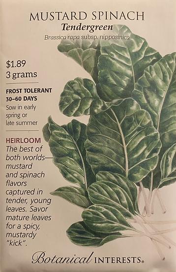 Botanical Interests - Mustard Spinach Tendergreen