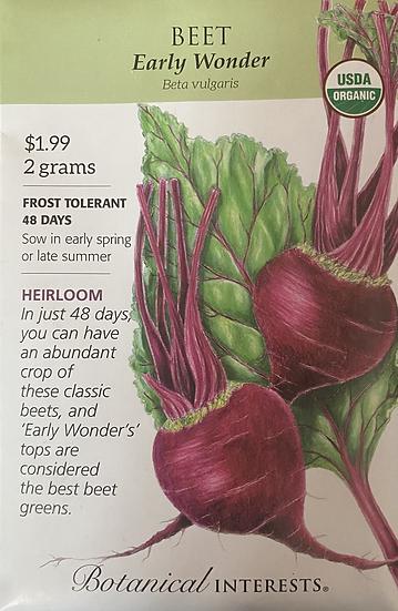 Botanical Interests - Beet Early Wonder