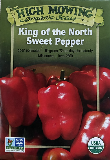 High Mowing Organic Seeds - King of the North Sweet Pepper