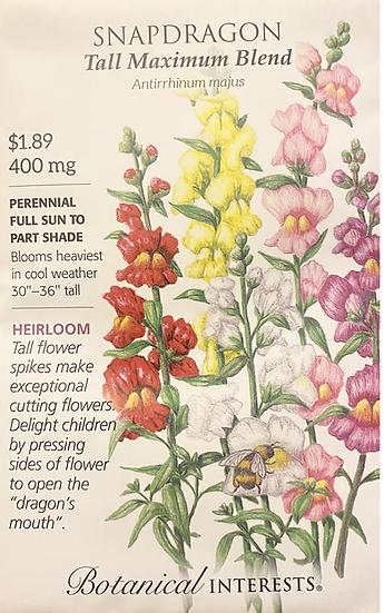 Botanical Interests - Snapdragon Tall Maximum Blend