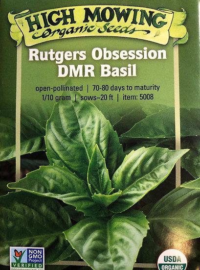High Mowing Organic Seeds - Rutgers Obsession DMR Basil