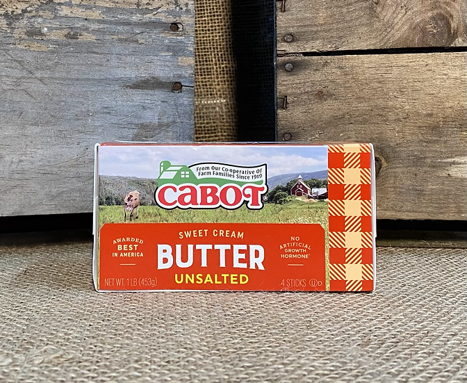 Butter Cabot Unsalted Quarters