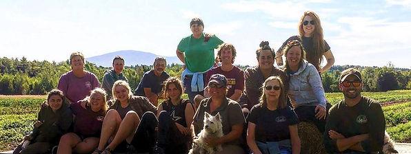 Tuesday meeting crew in Messer field sli