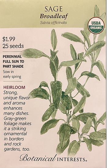 Botanical Interests - Sage Broadleaf