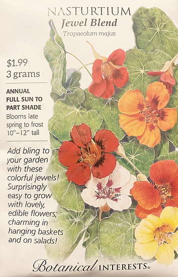 Botanical Interests - Nasturtium Jewel Blend