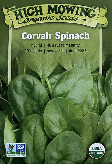 High Mowing Organic Seeds - Corvair Spinach