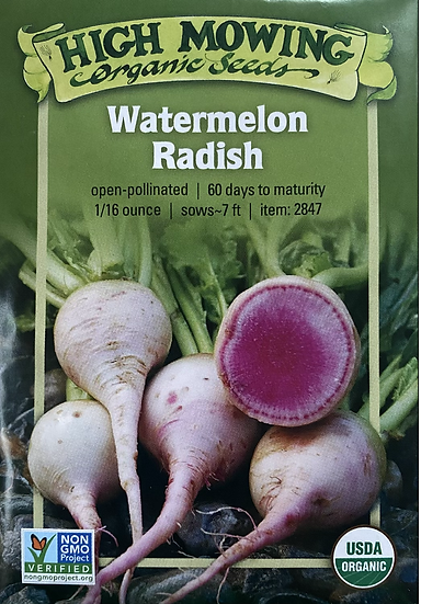 High Mowing Organic Seeds - Watermelon Radish