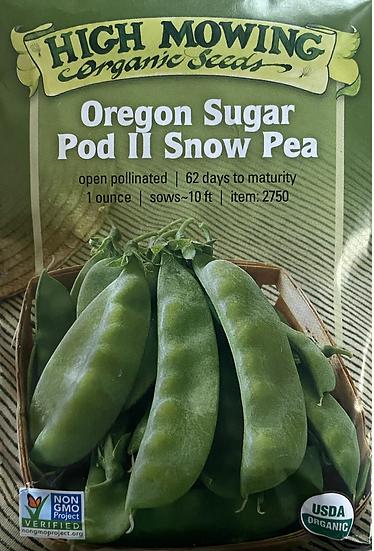 High Mowing Organic Seeds - Oregon Sugar Pod II Snow Pea