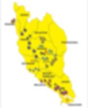 Durian Trail Map Malaysia showing durian growing region