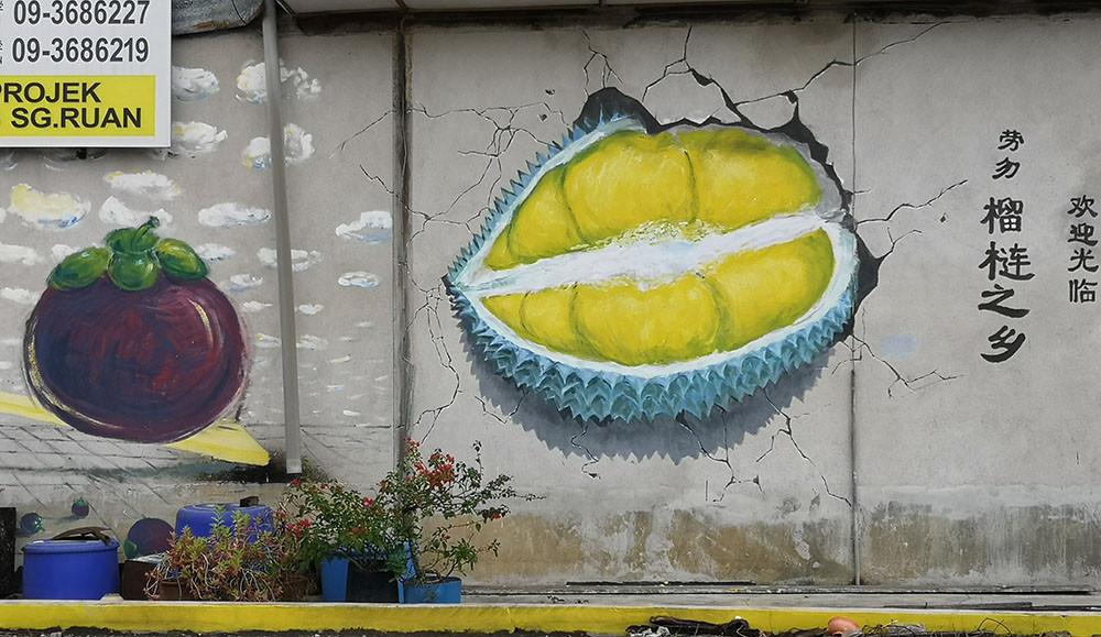 Durian mural Raub