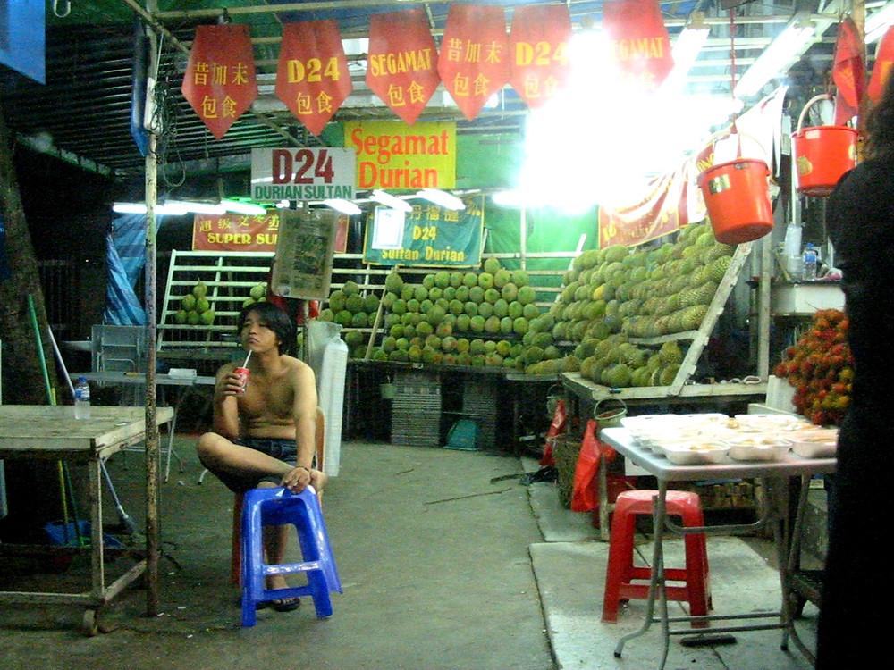 durian stall Singapore