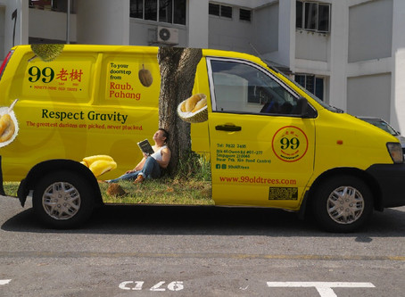99 Old Trees Durian Delivery Service - A fully transparent process