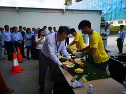 Durian party in Tuas