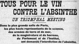 Meeting contre l'absinthe, Paris, juin 1907