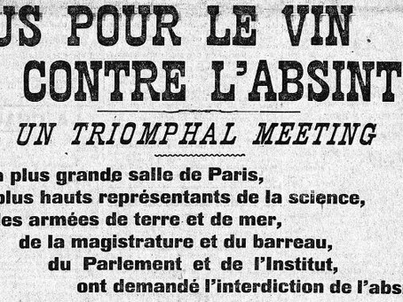 Meeting contre l'absinthe, Paris, juin 1907