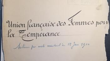 L'Union française des Femmes pour la Tempérance