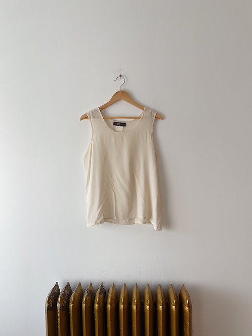Cream Silk Tank | L