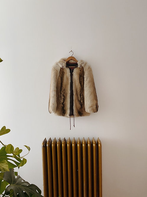 Faux Fur Hooded Jacket | S