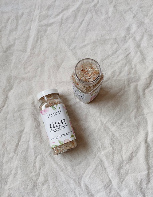 Sḵwálwen Kalkáy Wild Rose Yarrow Bath Salts
