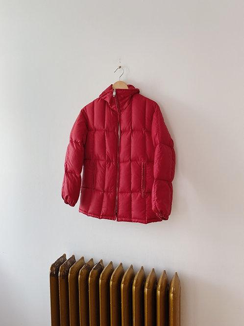 Red Puffer Coat   S