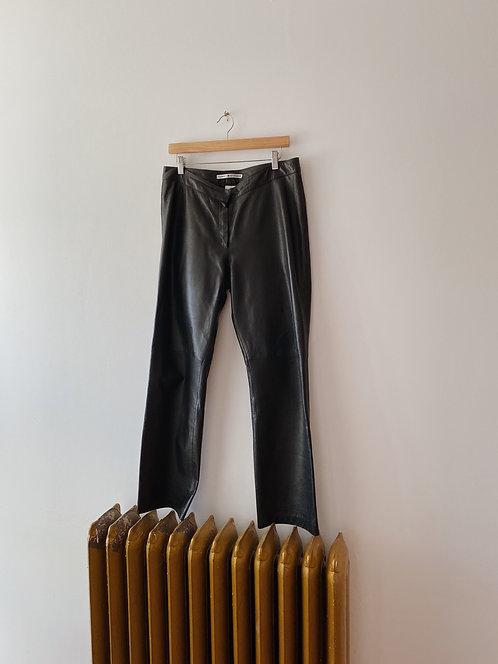 Black Leather Tommy Hilfiger Pants |32