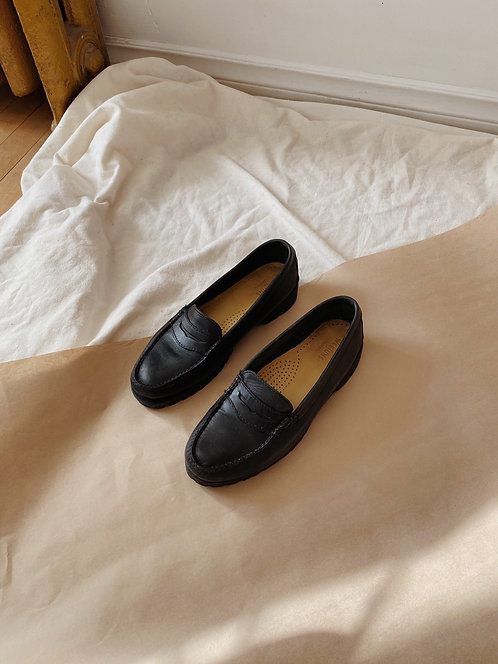 Black Leather Loafer | 8.5
